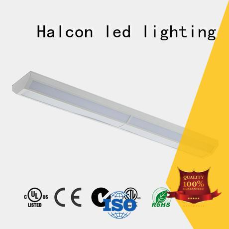 Custom slim wrapround led linear light Halcon lighting diffuser