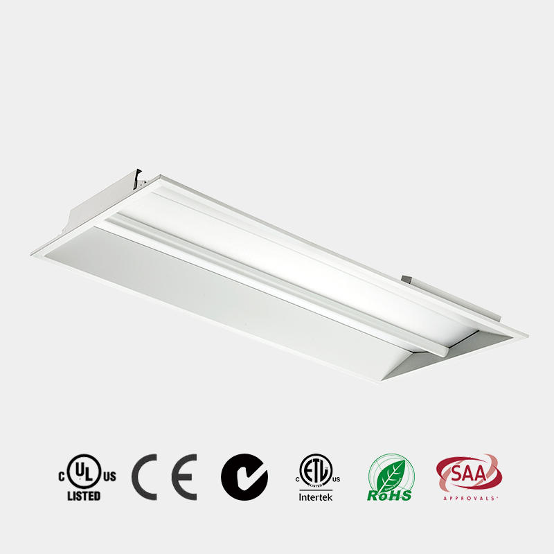LED Panel Light 2x2 2x4 DLC 110 LM/W CE ETL LED Recessed LED Troffer China HG-L208T