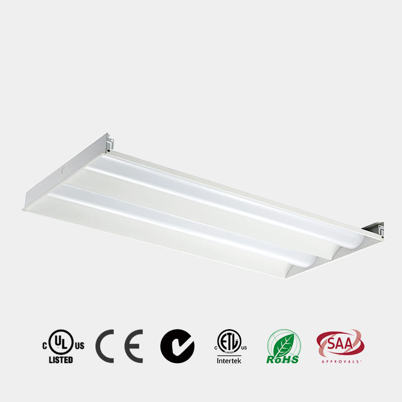 led light panel with sensor emergency 2x2 2x4 DLC 125 LM/W CE ETL LED Recessed LED Troffer China HG-L248