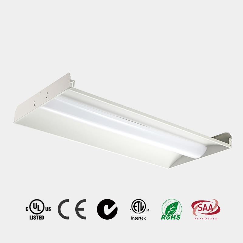 LED Recessed Light 2x2 2x4 DLC 125 LM/W CE ETL PC Milky Diffuser China HG-L249