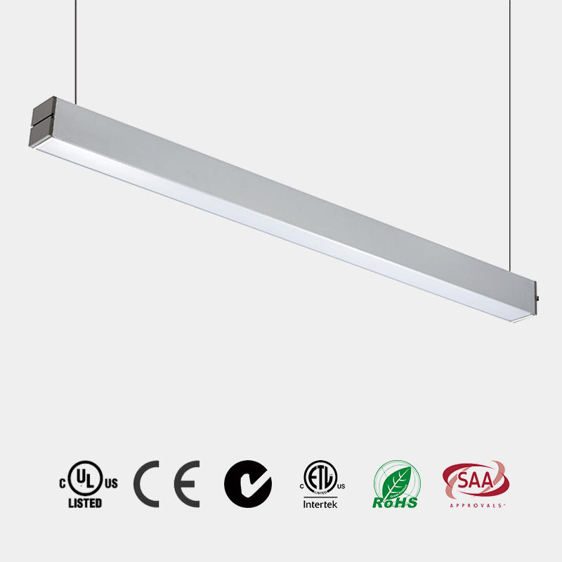 Linkable Pendant LED Light PC Milky Diffuser alluminum housing 110 LM/W CE ETL  HG-L242