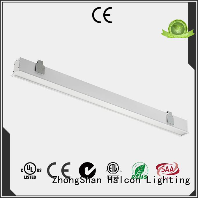 aluminum led housing commercial fixtures Halcon lighting company