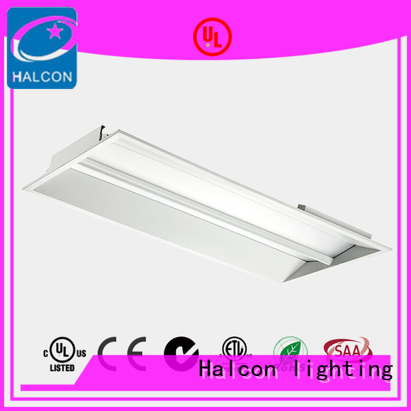 sensor troffer made panel light recessed Halcon lighting