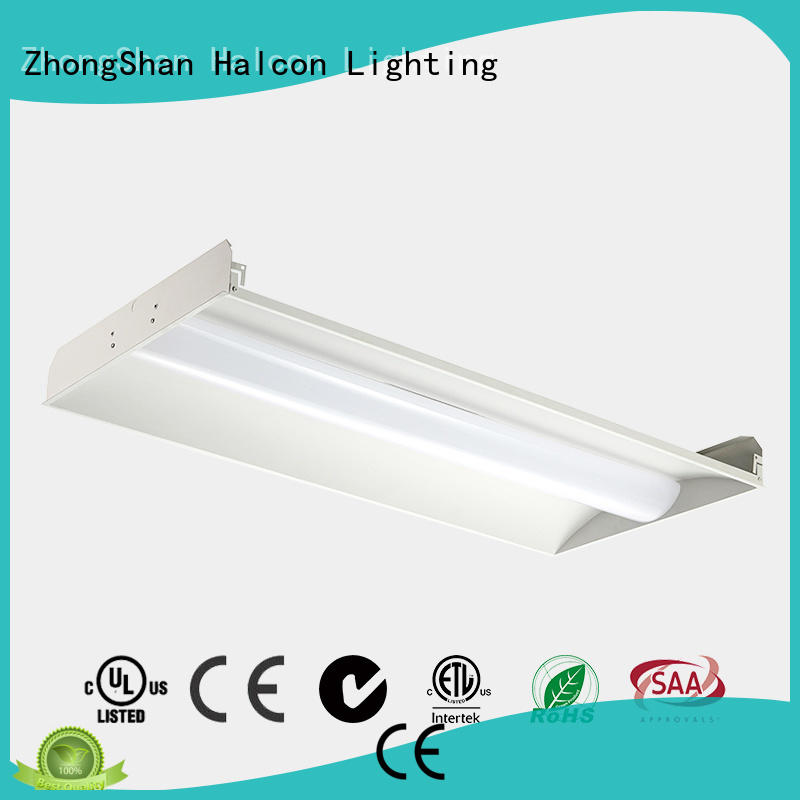 recessed milky troffer light panel light Halcon lighting