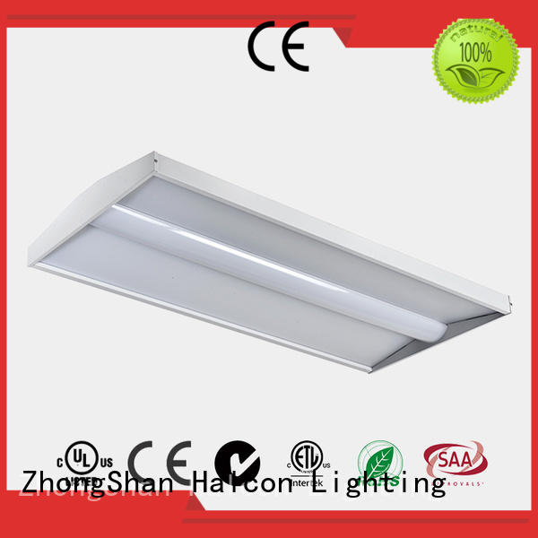troffer emergency panel light sensor Halcon lighting