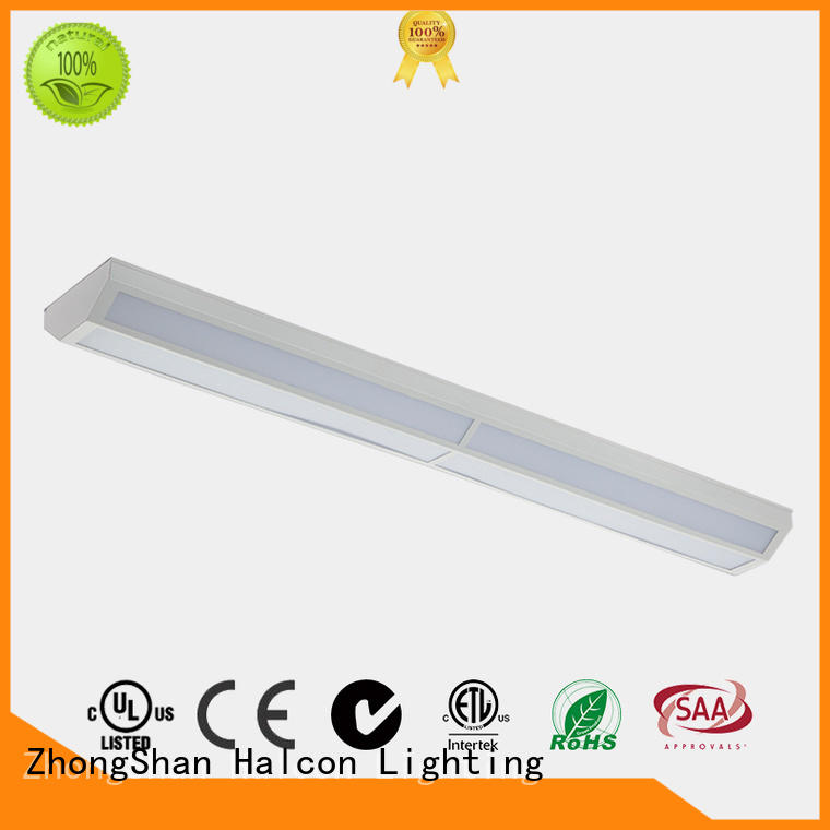 milky pc material commercial led lighting slim batten for conference room Halcon lighting